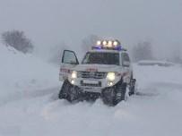 Kar Geçit Vermedi Açıklaması Hastaya 2 Saatte Ulaşıldı
