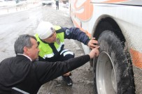 CAN GÜVENLİĞİ - Konya'da Otobüslere Kış Lastiği Denetimi