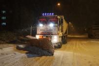 Nevşehir'de Karla Mücadele Çalışmaları Aralıksız Sürüyor