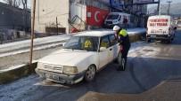 TRAFİK POLİSİ - Diğer Sürücüleri Tehlikeye Atarak Drift Yapan Sürücüye 5 Bin 10 TL Ceza Kesildi