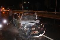 MUSTAFA KESER - İzmir'de Otomobil Alevlere Teslim Oldu
