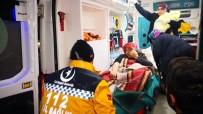 DOĞUM SANCISI - Kardan Yolları Kapanan Köyde Kar Paletli Ambulansta Doğum
