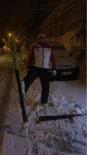 SÜLEYMANIYE - Kayak Takımını Aldı Şehir Merkezine İndi
