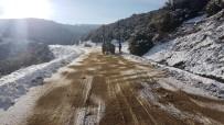 YENIKÖY - Sarıgöl Belediyesi Yollarda Tuzlama Çalışması Yapıyor