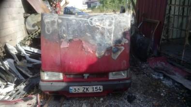Bozyazı'da Tamir İçin Bırakılan Araç Kundaklandı