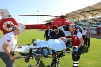 Pekmez Kazanına Düştü, Ambulans Helikopterle İzmir'e Sevk Edildi