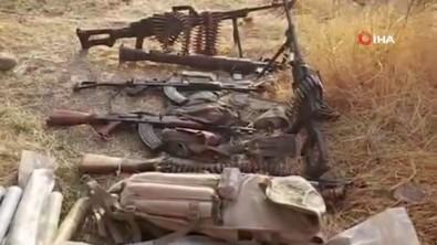 YPG/PKK'ya ait mühimmatların görüntüsü