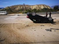 Boyabat'ta Otomobil Takla Attı Açıklaması 1 Yaralı