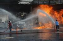 Cizre'de Yakıt İstasyonu Yandı, Vatandaşlar Büyük Bir Korku Yaşadı