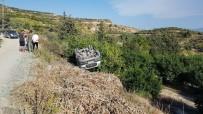 MAĞARACıK - Park Halindeki Pikap Devrildi Açıklaması 1 Yaralı