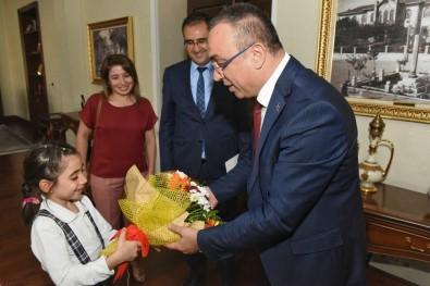 Rekortmen  Okuldan Vali Soytürk'e Ziyaret