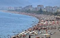 ALİ ŞAHİN - Antalya'nın Dünyaca Ünlü Sahili Ekim Ayında Tıklım Tıklım Doldu