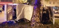 Takla Atarak Hurdaya Dönen Araçtan Hafif Yaralarla Kurtuldular