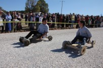 TAHTA ARABA - Kütahya'da Kıran Kırana 'Tahtalı Araba' Yarışı