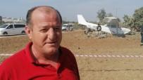 Yoldan Çıkan Uçağın Pilotu Açıklaması 'Hava Akımıyla Uçak Yolun Soluna Savruldu Ve Ağaçlara Çarparak Durdu'