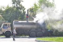 Zift Yüklü Tanker Alev Aldı