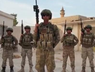 Barış Pınarı Harekatı'nda görev yapan askerlerden milli sporculara mesaj