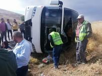 Dinar'da Tur Otobüsü Devrildi Açıklaması 1 Ölü, 4'Ü Ağır 29 Yaralı