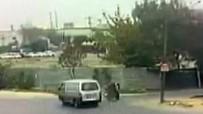 Aşırı hız sonucu feci kaza kamerada
