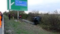 (Özel) Otobanda Kaza Açıklaması 1 Ağır Yaralı