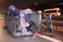 TEM'de Otomobilin Çarptığı Araç Takla Attı Açıklaması 2 Yaralı
