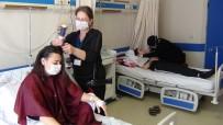 TAM GÜN - Kursiyerler Uygulama İmkanı, Hastalar Moral Buluyor