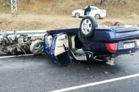 Kayganlaşan Yolda Kontrolden Çıkan Otomobil Takla Attı Açıklaması 5 Yaralı