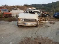 İki Otomobil Kafa Kafaya Çarpıştı Açıklaması 1 Ölü, 3 Yaralı