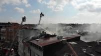 (Özel) Gaziosmanpaşa'da Korkutan Çatı Yangını