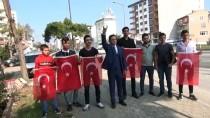ÜLKÜ OCAKLARı - Ülkü Ocaklarından Barış Pınarı Harekatı'na Türk Bayraklı Destek