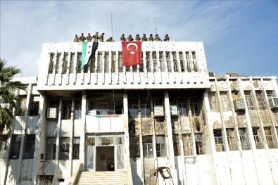 Rasulayn'a Türk bayrağı asıldı