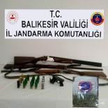 Manyas'ta Uyuşturucu Ve Silah Operasyonu
