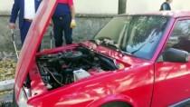 ISPARTA BELEDİYESİ - Otomobilin Motoruna Giren Yılanı İtfaiye Çıkardı