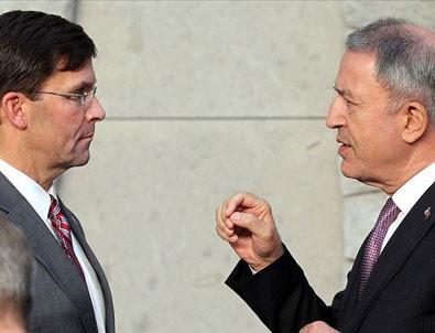 Milli Savunma Bakanı Akar, ABD'li mevkidaşıyla görüştü