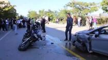MESUT YILMAZ - Muğla'da Motosikletli Polis Ekibi Kaza Yaptı Açıklaması 2 Yaralı