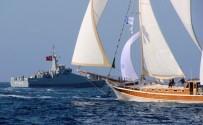 KARDAK - Savaş Gemisi Korudu, Yelkenliler Yarıştı