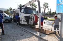 SU TAŞKINI - Bodrum Belediyesi Su Taşkınlarının Önüne Geçmek İçin Gece Gündüz Çalışıyor