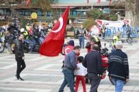 100 Motosiklet Cumhuriyet İçin 140 Kilometrelik Kortej Yaptı