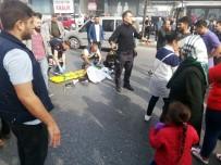 (Özel) Esenyurt'ta Feci Kaza Açıklaması 1 Ağır Yaralı