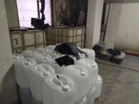 Kaçak İçki Operasyonunda Tonlarca Etil Alkol Ele Geçirildi