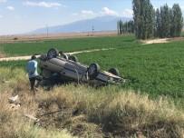 Otomobil Takla Attı Açıklaması 4 Yaralı