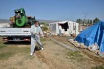 Tarım İşçilerinin Çadırları İlaçlanıyor