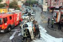 İzmit'te Kazaların Tükenmediği Yokuşta Bir Zincirleme Kaza Daha