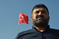 MURAT BÜYÜKKÖSE - (Özel) Mehmetçiğe Türk Bayrağıyla Destek