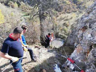 Bolu'da, Uçurumda Mahsur Kalan Keçileri İtfaiye Kurtardı