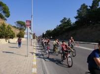 BİSİKLET TURU - Burhaniyeli Öğrenciler Obeziteye Dikkat Çekmek İçin Pedal Çevirdi
