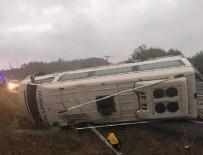 KANDILLI - Maden işçilerini taşıyan minibüs devrildi: 15 yaralı
