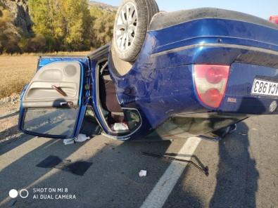 Otomobil Takla Attı Açıklaması 1 Ölü, 4 Yaralı