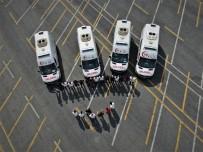 (Özel) İstanbul'un Ambulans Sürücülerinin Zorlu Eğitimi Havadan Görüntülendi