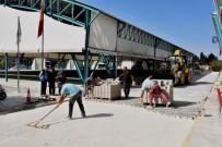 İnönü'de Kilitli Parke Taşı Çalışması